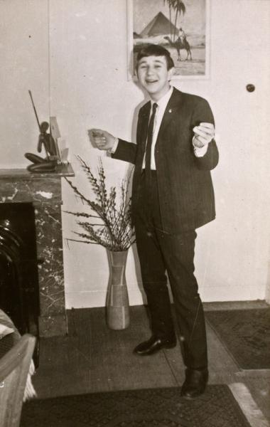 Wim de Boek in his parental home for the painting by Leo Mineur, ca. 1965 (collection of Wim de Boek)