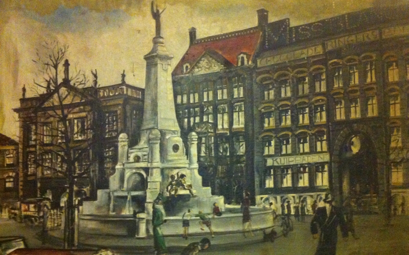 Painting from the 30s (artist unknown) - photo of the Rotterdam City Archives